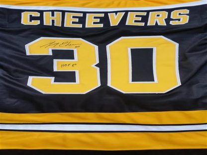 Boston Bruins Gerry Cheevers Autographed Jersey