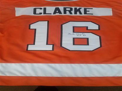 Philadelphia Flyers Bob Clarke Autographed Jersey