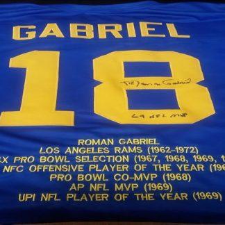 Los Angeles Rams Roman Gabriel Autographed Jersey