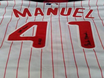 Philadelphia Phillies Charlie Manuel Autographed Jersey