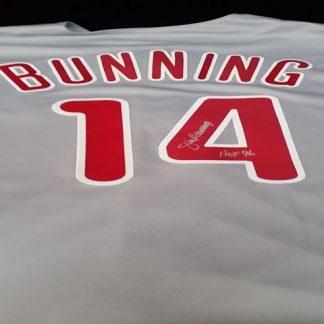 Philadelphia Phillies Jim Bunning autographed Jersey