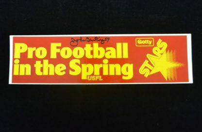Philadelphia Stars John Bunting Autographed Bumper Sticker