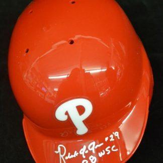 Philadelphia Phillies Roly de Armas Autographed Mini Helmet