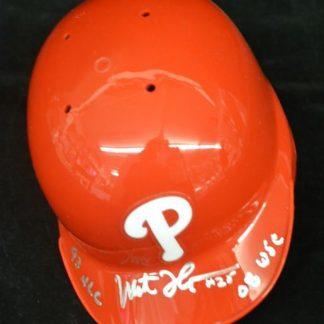 Philadelphia Phillies Milt Thompson Autographed Mini Helmet
