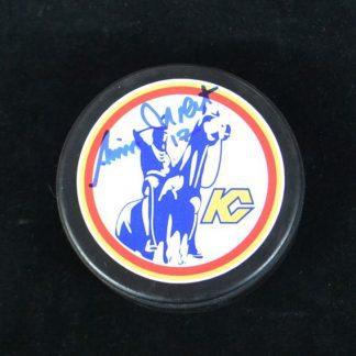 Kansas City Scouts Simon Nolet Autographed Puck