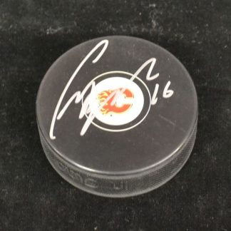 Calgary Flames Craig Berube Autographed Puck