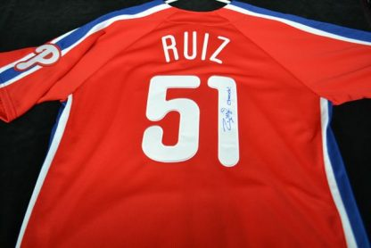 Philadelphia Phillies Carlos Ruiz Autographed Jersey
