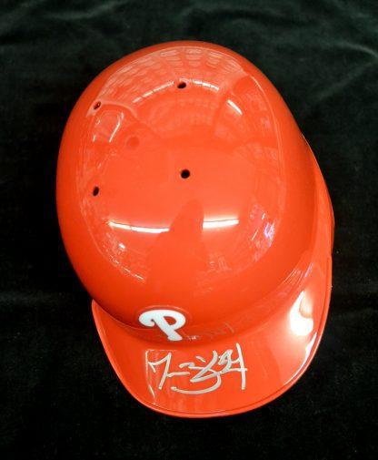 Philadelphia Phillies Jesse Biddle Autographed Mini Batting Helmet