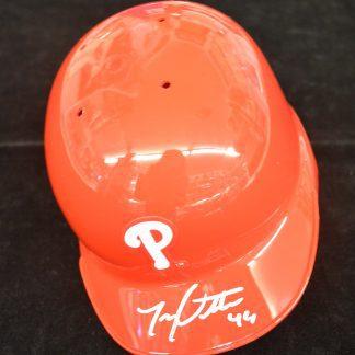Philadelphia Phillies Jonathan Pettibone Autographed Mini Helmet