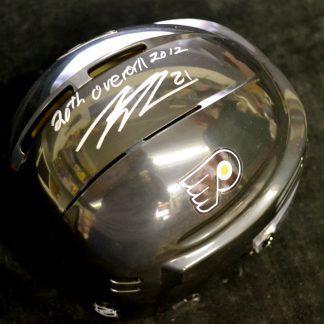 Philadelphia Flyers Scott Laughton Autographed Mini Helmet