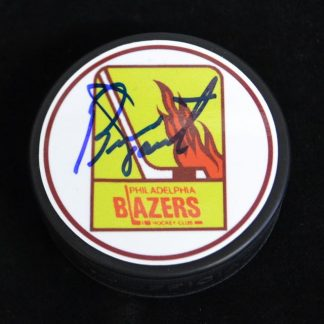 Philadelphia Blazers Bernie Parent Autographed Puck