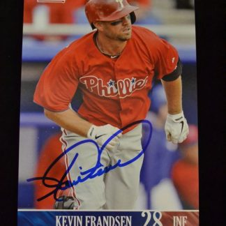 Philadelphia Phillies Kevin Frandsen Autographed Photo Card