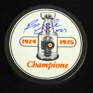 Philadelphia Flyers Reggie Leach Autographed Puck