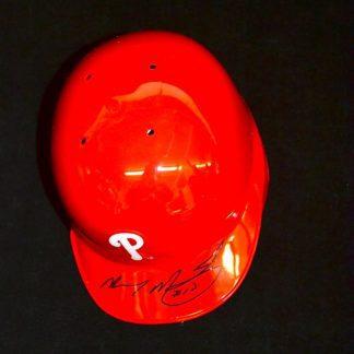 Philadelphia Phillies Mickey Morandini Autographed Mini Helmet