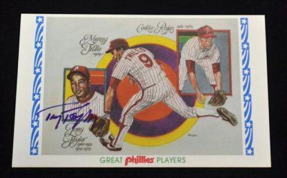 Philadelphia Phillies Tony Taylor Autographed Photo Card
