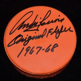 Philadelphia Flyers Andre Lacroix Autographed Puck