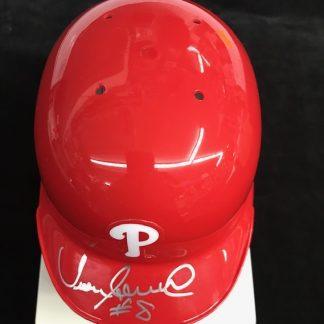 Philadelphia Phillies Juan Samuel Autographed Batting Helmet