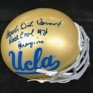 UCLA Bruins Dick Vermeil Autographed Mini Helemt