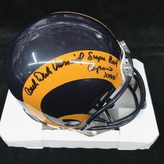 St. Louis Rams Dick Vermeil Autographed Mini Helmet