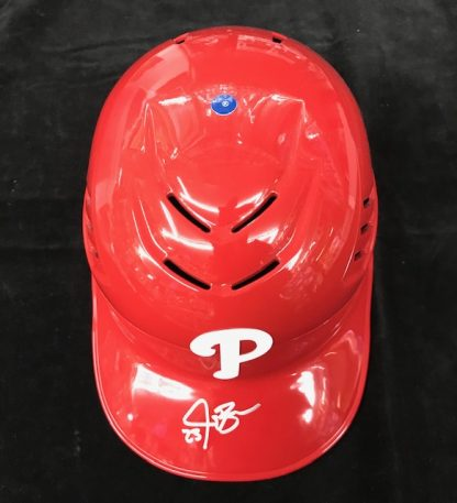 Philadelphia Phillies Jay Bruce Autographed Batting Helmet