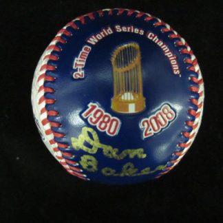 Phillies/Eagles Announcer Dan Baker Autographed Baseball