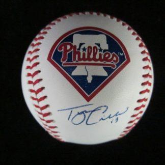 Philadelphia Phillies Tyson Gillies Autographed Baseball