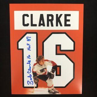 Philadelphia Flyers Bobby Clarke Autographed 8 x 10