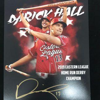Reading Phillies Darick Hall Autographed 8 x 10