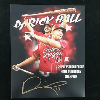 Reading Phillies Darick Hall Autographed 11 x 14