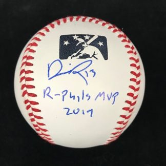 Reading Phillies Darick Hall Autographed Ball