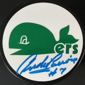 Hartford Whalers Andre Lacroix Autographed Puck