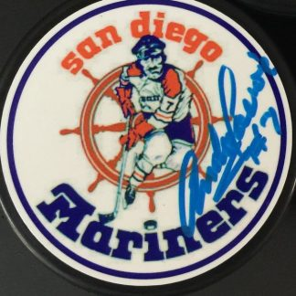 San Diego Mariners Andre Lacroix Autographed Puck