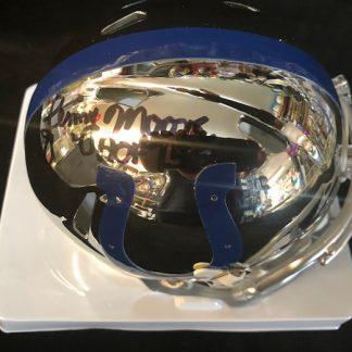 Baltimore Colts Lenny Moore Autographed Chrome Mini Helmet