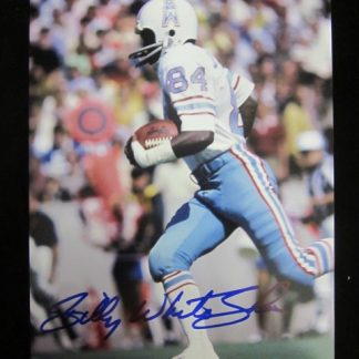 Houston Oilers Billy White Shoes Autographed Photo