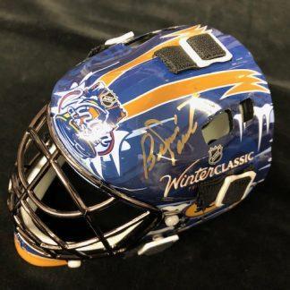 Philadelphia Flyers Bernie Parent Autographed Mini Winter Classic Goalie Mask