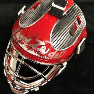 Detroit Red Wings Larry Zeidel Autoraphed Mini Goalie Mask