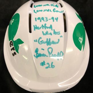 Hartford Whalers Autographed Brian Propp Mini Helmet with 4 Inscriptions