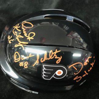 Philadelphia Flyers Schultz / Kindrachuk / Saleski Autogrphed Mini Helmet
