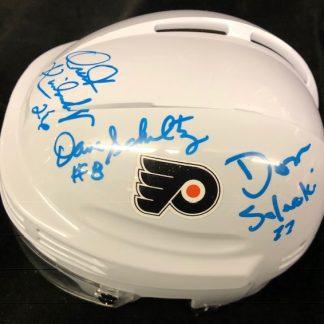 Philadelphia Flyers Schultz / Kindrachuk / Saleski Autographed Mini Helmet