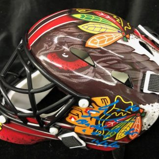 Chicago Black Hawks Eric Semberski Autographed Mini Goalie Mask