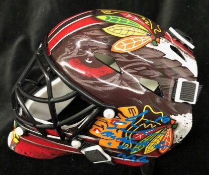 Chicago Black Hawks Eric Semberski Autographed Mini Goalie Mask