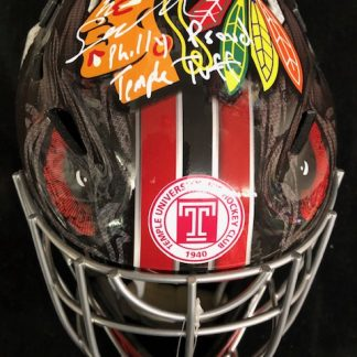 Chicago Black Hawks Eric Semberski Autographed Full Siize Goalie Mask