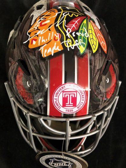 Chicago Black Hawks Eric Semberski Autographed Full Siize Goalie Mask