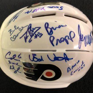 Philadelphia Flyers Multi 11 Player Autographed Mini Helmet