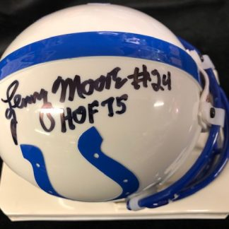 Baltimore Colts Lenny Moore Autographed Throwback Mini Helmet