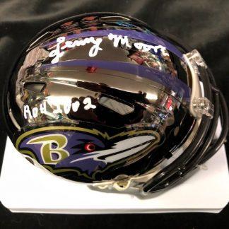 Baltimore Ravens Lenny Moore Autographed Chrome Mini Helmet