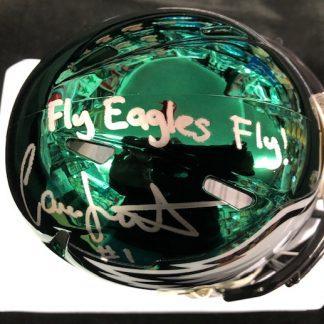 Philadelphia Eagles Cameron Johnston Autographed Chrome Mini Helmet