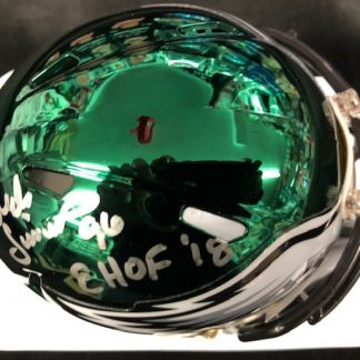 Philadelphia Eagles Clyde Simmons Autographed Chrome Mini Helmet