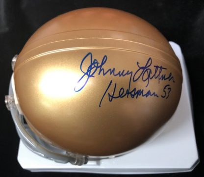 Notre Dame Fighting Irish John Lattner Autogrpahed Mini Helmet