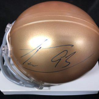 Notre Dame Fighting Irish Trevor Laws Autographed Mini Helmet
